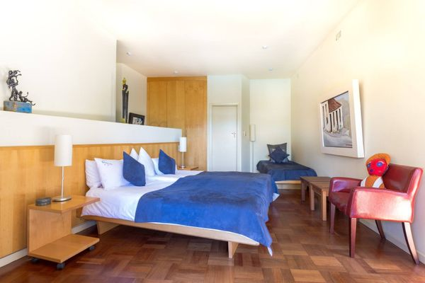 Interior view of the Corner Room, Lezard Bleu Guest House, Cape Town